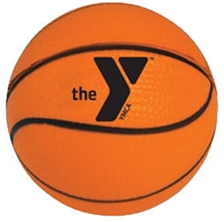 Basketball with the Y logo on it