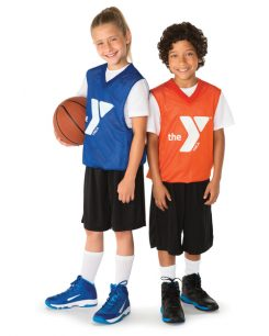 Children holding basketball