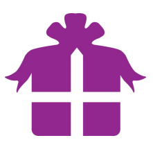 purple gift box silhouette