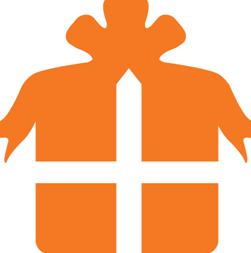 Orange gift box graphics