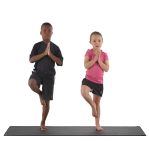 children in a yoga pose