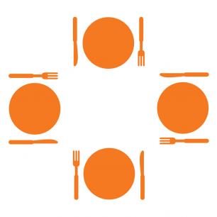 plates, forks, knives