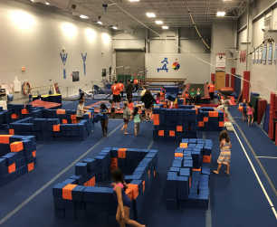 children playing in the gym