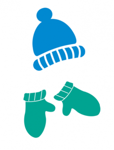 hat and mittens silhouette